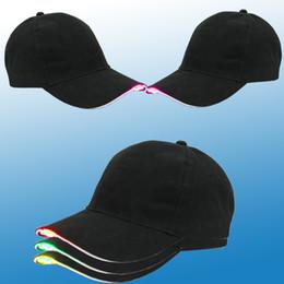 Wholesale led cotton balls - LED Baseball Caps Cotton Black Shining LED Light Ball Caps Glow In Dark Adjustable Snapback Hats Luminous Party Hats