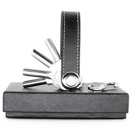 Wholesale DIY Smart Key Portefeuille EDC Véritable Porte Vitesse En Cuir Cadeau Créatif Portable Compact Clé Multi fonctionnelle Clip