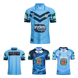 Wholesale wales rugby jersey - Thai quality New South Wales Rugby League Blues 2018 jersey 20172018 3XL South Wales Langholton commemorative Home rugby shirts Size S-XXL