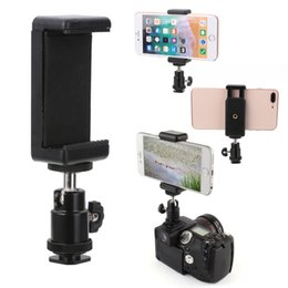 1/4 Flash Hot Shoe Adapter Cradle Ball Head Ball w/ Lock + Phone Clip Bracket Holder Mount for Nikon DSLR SLR Cell Phone от