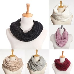 2019 capuz de peles Mulheres Faux Fur Infinito Círculo Cabo Cowl Neck Inverno Quente Longo Cachecol Xaile capuz de peles barato