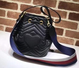 Wholesale Leather Heart Shaped Handbag - Fashion Designer Handbags Luxury Bag Single Shoulder Bag Brand Slant Bags With A Heart-Shaped Bucket Handbag Leather For Women Girl Hand Bag