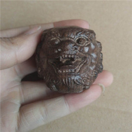 Wholesale Chinese Lion Art - Collectibles Chinese Agarwood Wood Hand Carved statue Lion ball