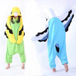 2019 traje completo de miku hatsune Adulto Unisex Fleece Animal Loro Onesies Novedad Pijamas Pijamas Mono Ropa de dormir Disfraces de Carnaval Kigurumi cosplay