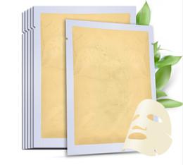 Wholesale 24k gold powder - Hot Sell 24K Gold Collagen Active Face Mask Powder Skin Moisturizing Skin Care Facial Masks Washable Mask