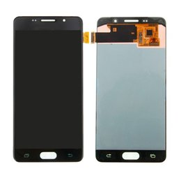 "schermata lcd per mega della galassia Sconti 5 ""SUPER AMOLED Per SAMSUNG Galaxy A5 2016 A510 A510F A510M A510FD Display LCD con Touch Screen Digitizer Assembly"