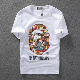 monkey print shirt Promo Codes - Hot High Quality Monkey Luminous Print Short Sleeve Men S T -Shirt Top Quality Men And Woman Casual Couple T Shirt