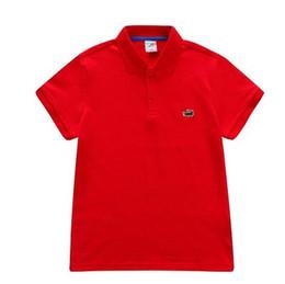 Детская одежда поло онлайн-Новые 2018 высококачественных новых горячих Baby Boys поло рубашка Детская одежда S Летняя одежда Baby Дети ребенка Марка хлопка короткой рубашки поло