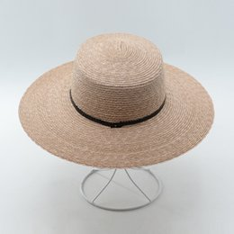 2464d868ca8 Muchique Boater Hat Women Summer 2017 Wheat Straw Beach Sun Hatswith Wide  Brim Sequins Trim Hats