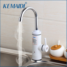 Wholesale Tankless Instant Hot Water - KEMAIDI RU Stock Instant Tankless Electric Hot Water Heater Faucet Kitchen Instant Heating Tap Water Heater with LED EU Plug