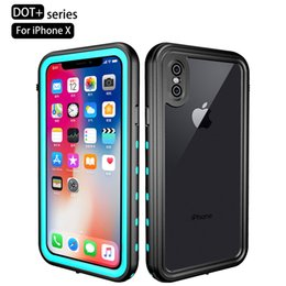 Wholesale iphone waterproof case redpepper - TPU Redpepper Dot Waterproof Dustproof Dropproof Case for iphone X Snow Proof Case for iphone X With Retail Box