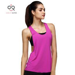Wholesale Womens Yoga Tanks - Womens Yoga Shirts Woman Running Vest Cool Gym Shirts Yoga Apparel Tank Tops Fitness Clothes Ladies Tops Female Tee P052