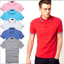 Мужские рубашки поло полиэстера онлайн-Polo Men Brand Рубашка Поло Luxury Рубашка Поло Досуг для Мужчин С Коротким Рукавом Полиэстер Твердые Случайные Свободные Летние Спортивные Размер S-4XL