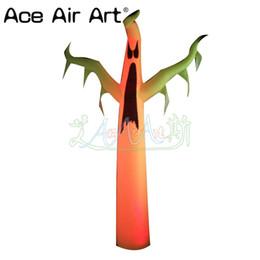 Licht ace online-Spitzenverkauf Halloween führte aufblasbaren Geist der Dekoration, stehenden Geist mit niedrigem Ventilator und Lichter durch Ace-Luft-Kunst