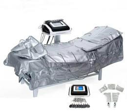 Pressotherapie schlankheits-maschine online-Fabrikpreis !!! 3 In 1 Microcurrent Infrarot Pressotherapy Pressoterapia Lymphdrainage Detox Presoterapia Maschine Abnehmen Schönheit Maschine