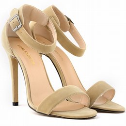 Wholesale Ladies Sandals Color Blue - SEXY PARTY OPEN TOE Women Pumps BRIDAL Flock HIGH HEELS SHOES Ladies SANDALS US SIZE 4-11 8 color 102-3VE
