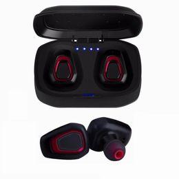 Батареи для наушников bluetooth онлайн-Мини Twins Беспроводная связь Bluetooth 4.2 Стерео Спорт Наушники-вкладыши Наушники-вкладыши С батарейным отсеком TWS Bass Headset For IOS Android