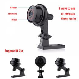 kamera q6 Rabatt Q6 Taste Drahtlose Mini Kameras Zwei-Wege-Stimme 720P Wifi Kamera Indoor IR-CUT Nachtsicht CCTV-Kamera Home Security IP-Kamera