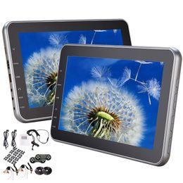 Wholesale videos button - Headrest Monitor car DVD Player Ultra-thin Digital Button HDMI USB Port Headrest DVD Player Car Can Use Both in Car OR at Home