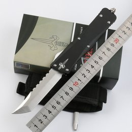 Wholesale Custom Tanto Knife - Special Offer! Microtech Custom Combat Troodon Interceptor knife Bowie   Hellhound Tanto   Spear point D2 Steel blade Knives Tactical Knife