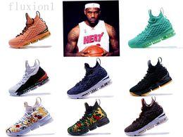 Canada 2018 Nouveau designer chaussures 15 ÉGALITÉ Noir Blanc mode respirant Chaussures De Basket-ball pour Hommes 15s EP Entraînement Sportif Baskets Taille 40-46 Offre