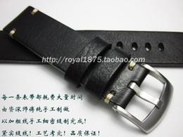 18 19 20 21 22 mm Retro hechos a mano hombres correa de reloj de cuero genuino correa de pulsera de alta calidad pulsera para reloj de marca desde fabricantes
