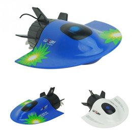 Wholesale Mini Toy Boats - 4 channels CREATE Radio Remote Control Mini RC Submarine RC RACING BOAT Toy Speedboat