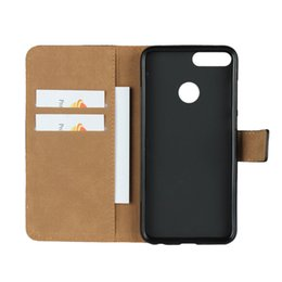 Wholesale Flip Phone Holder - For Huawei Mate 9 Pro P10 Genuine Leather Wallet Credit Card Holder Stand Case Cover Wallet Flip Cover Case Phone Shell Cases