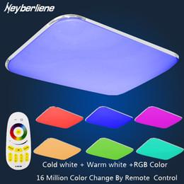 Luz del techo del dormitorio regulable online-Lámpara de luces de techo LED Luminaria Lustre de luz de techo con 2.4G Control remoto de grupo regulable Color y RGB que cambian el dormitorio