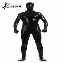 Männer Metallic Shiny Zentai Full Body Zurück Reißverschluss Costum Made Strumpfhosen Anzüge Herren Ganzkörper Body Cosplay Halloween-Kostüme von Fabrikanten