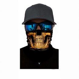 2019 fascia protettiva Personalità senza soluzione di continuità Orrore Fantasma Cranio Collo Maschera Testa Sciarpa da guida Protector Fascia per Halloween Party Hat 7 8xh W sconti fascia protettiva