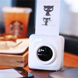 2019 weißer telefonkasten billig Portable Drucker Mini Wireless Bluetooth Portable Thermal Bild Fotodrucker für Android IOS Handy-SCLL