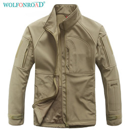 5d4a2aa6ac outdoor winter jacket for men Australia - WOLFONROAD Outdoor Jacket Men  Winter Hunting Cloths Military Tactical