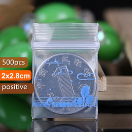 Wholesale Plastic Pouch Designs - 500pcs Landscape Design mini Self-Sealing Bag PE Jewelry Bag Reusable Pouch Buttons Small Parts Receive Sack