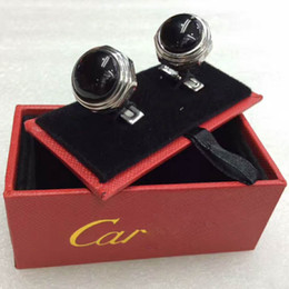 Luxury Cufflinks engrave stainless steel Sleeve Nail Men Cuff link French's Cuff Color Car-ter Cufflink with gift box