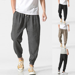 506aa2ae5d2 Summer Joggers Men Pants Trousers Wide Legs Baggy Trousers Loose Fitness  Pants HipHop Harem Hombre 5XL Casual Workouts Male