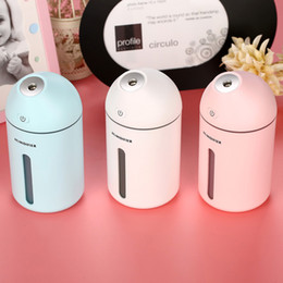 Wholesale incense oil diffuser - USB DC5V Power Ultrasonic Humidifier Cute C9 Household Aroma Oil Diffuser 35ML H Water Spray Bottle