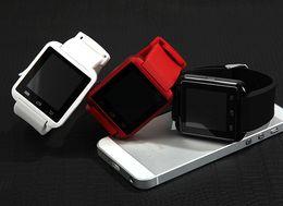 наручные часы магазин Скидка U8 Smart Watch Bluetooth Smartwatches сенсорный экран Wirst часы без высотомера для Android смартфон IOS с розничной упаковке 2019