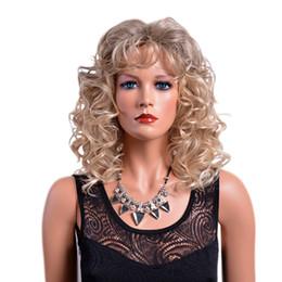 2019 peruca encaracolada Peruca Sintética 14 Polegadas Médio Ombre Encaracolado Perucas com Franja Mix Cor Afro Americano para Mulheres desconto peruca encaracolada