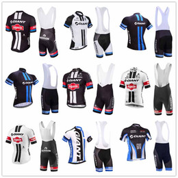 Wholesale giant shirts - 2018 sale giant new mens cycling jersey 9d gel pad anti uv bib shorts set ropa ciclismo summer quick dry shirts bicycle maillot suit