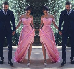 Wholesale Taffeta Burgundy Wedding Dress - Sexy Off The Shoulder Bridesmaid Dresses Long With Lace Appliques Sash A Line Wedding Guest Dress Maid of Honor Cheap Cocktail Gowns