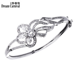 Wholesale DreamCarnival1989 Slim Style Flower Gift regalo per Lover Luxury Bracciale Channel Set CZ Top Quality Banquet Jewelry Lady YB0663