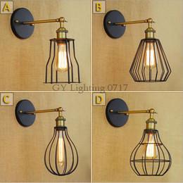 AC 110v 220v американский стиль лофт ретро ностальгия промышленности минималистский новый одноголовый прикроватная лампа проход украшения luminarias abajour от