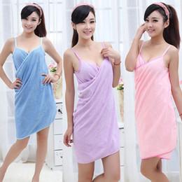 Wholesale Fast Bath - 2018 women Wearable Bath beach Towel 140*70cm microfiber Fashion Lady Girls Fast Drying Bath Towel Skirt