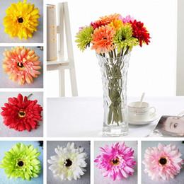 Yüksek kalite Yeni Simülasyon çiçek yapay çiçek ipek çiçek İmitasyon Gerbera Dekoratif Çiçekler 200 adet / grup T2I254 cheap simulation gerbera nereden simülasyon gerbera tedarikçiler