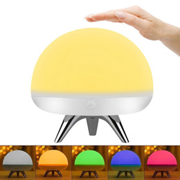 Wholesale Children Room Cartoon Lamps - Children Kids LED Night Light Silicone Toy Nightlight Baby Rooms Nursery Lamps Bedroom Touch Sensor Table Lamps Christmas Gifts with 4 Light