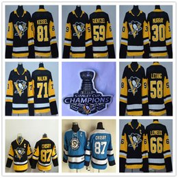 Wholesale Byfuglien Jersey - Youth Pittsburgh Penguins 87 Sidney Crosby Mario Lemieux Evgeni Malkin Letang Phil Kessel Guentzel 30 Matt Murray Black Kids Hockey Jerseys