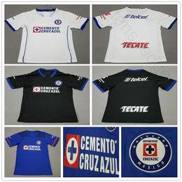 Wholesale Mora Black - 2018 Mexico Club Cruz Azul Soccer Jerseys 17 MENDEZ 9 MORA CRUTE GIMENEZ CROSAS ROJAS Custom Home Away Black Blue White Football Shirt