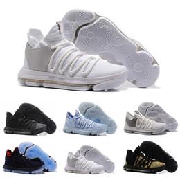 new styles a041d aea85 KD 10 Multi-Color Oreo Numbers BHM Iglu Männer Basketball-Schuhe 2019 KD 10  X Elite Mitte Kevin Durant Sport Trainer Designer Sneakers männer kd bhm  schuhe ...