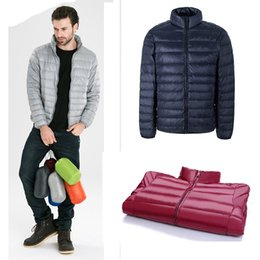 Wholesale men down vest orange - 2017 Winter Jacket Mens Fashion thin Coat European Size Free Outwear Casual down parkas spring and autumn fashion male clothing